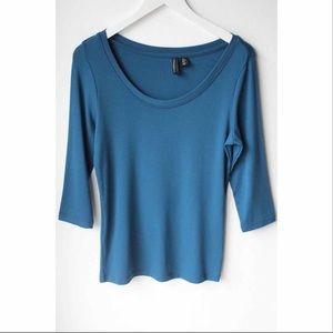 Cynthia Rowley Blue Mid Length Sleeve Shirt